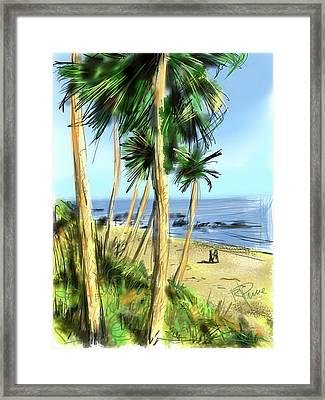 Plein Air Painter Framed Print by Russell Pierce