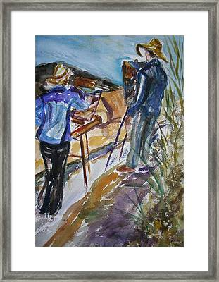 Plein Air Painters - Original Watercolor Framed Print