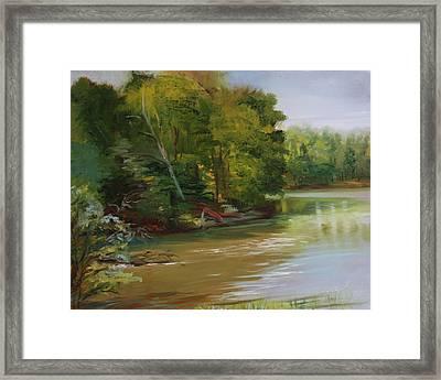 Plein Air Willow Creek Framed Print by Jill Holt