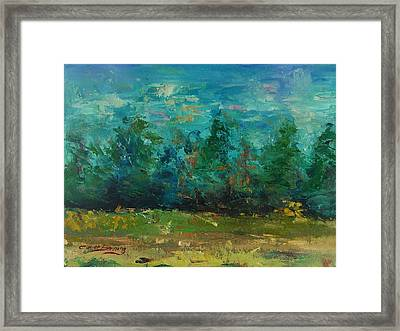 Framed Print featuring the painting Plein Air With Palette Knives by Carol Berning