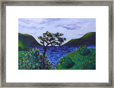 Framed Print featuring the painting Plein Aire by Judy Via-Wolff