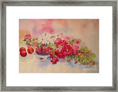 Framed Print featuring the painting Plentiful by Beatrice Cloake