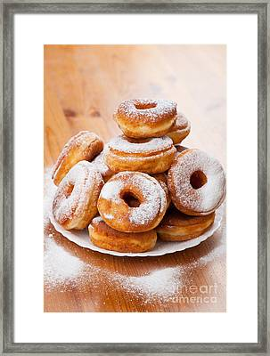 Plenty Doughnuts Or Donuts With Holes  Framed Print by Arletta Cwalina