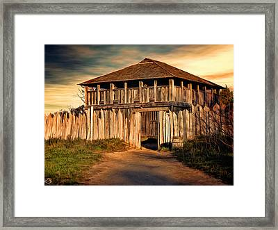 Plimouth Plantation  Meeting House Framed Print by Lourry Legarde