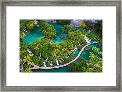 Plitvice Boardwalk Framed Print by Inge Johnsson