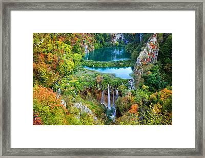 Plitvice Lakes In Croatia Framed Print