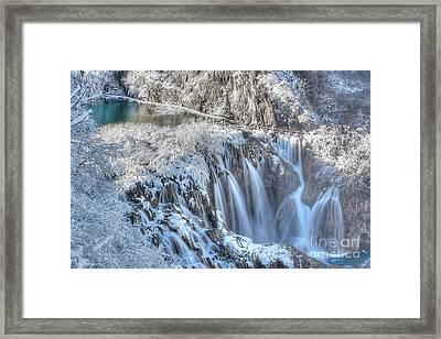 Plitvice Winter Framed Print