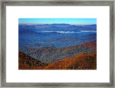 Plott Balsam Overlook In Autumn Framed Print by Rick Berk