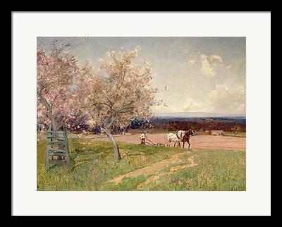 Ploughed Field Framed Prints