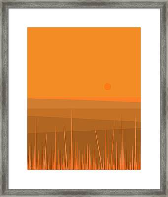Plowed Fields Framed Print