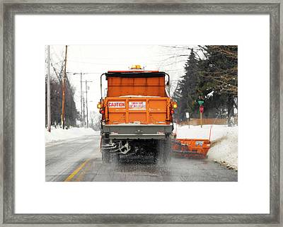 Plowing Snow Framed Print