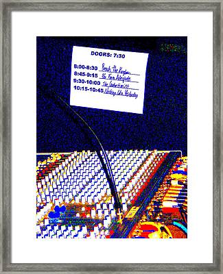Plugged In Framed Print