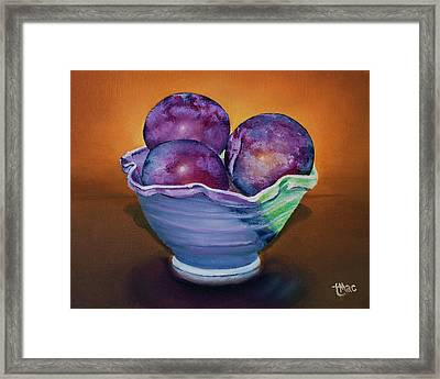 Plum Assignment Framed Print