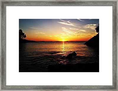 Plum Cove Beach Sunset G Framed Print