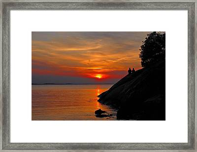 Plum Cove Sunset Framed Print