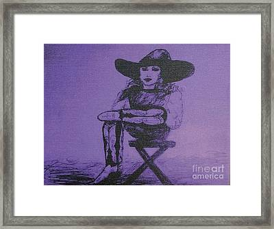 Plum Cowgirl Framed Print by Susan Gahr