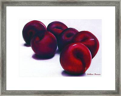 Plum Crazy Framed Print by Colleen Brown