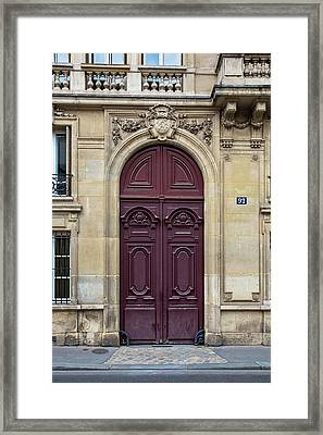 Plum Door - Paris, France Framed Print