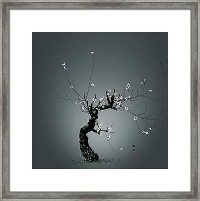 Plum Flower 0204 Framed Print by GuoJun Pan