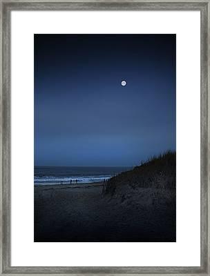 Plum Island Moon Framed Print