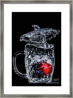 Plum Splash Framed Print