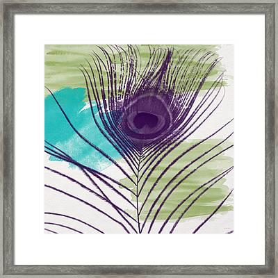 Plumage 2-art By Linda Woods Framed Print