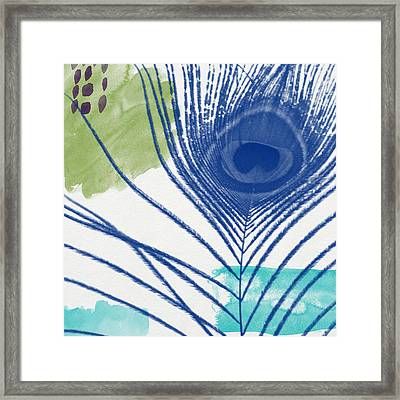 Plumage 3- Art By Linda Woods Framed Print by Linda Woods