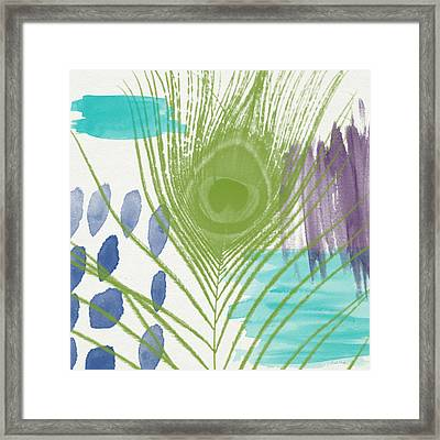 Plumage 4- Art By Linda Woods Framed Print by Linda Woods