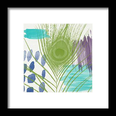 Blue Feather Framed Prints