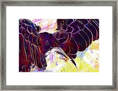 Framed Print featuring the digital art Plumage Bald Eagle  by PixBreak Art