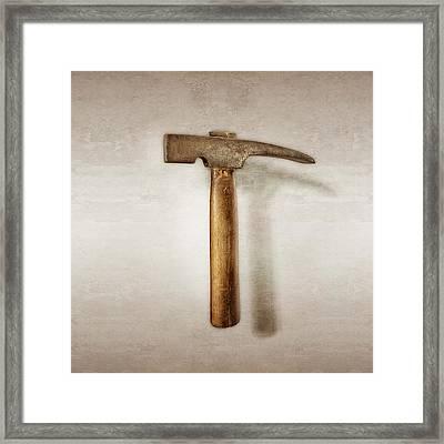 Plumb Masonry Hammer Framed Print by YoPedro