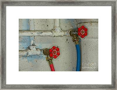 Plumbing Hot And Cold Water Framed Print