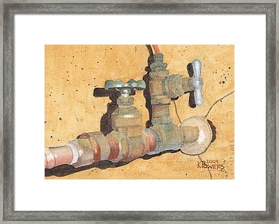 Plumbing Framed Print by Ken Powers