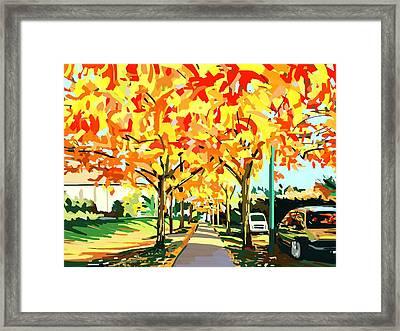 Plumes Of Leaves Framed Print