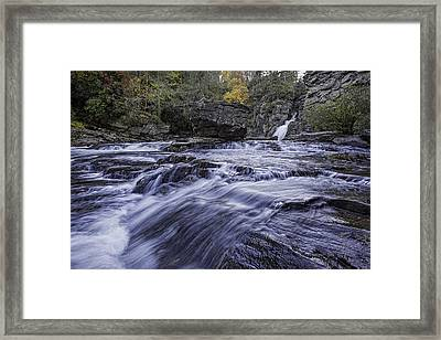 Framed Print featuring the photograph Plunge Basin Linville Falls by Ken Barrett