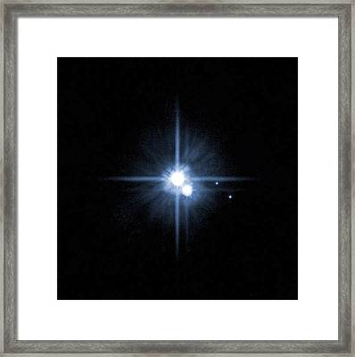 Pluto And Its Moons Charon, Hydra Framed Print by Stocktrek Images