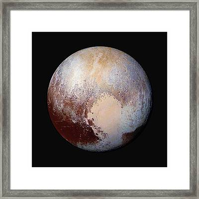 Pluto Dazzles In False Color - Square Crop Framed Print