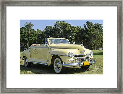 Plymouth Convertible  Framed Print by Amir Paz