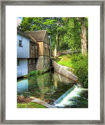 Plymouth Grist Mill Framed Print by Tammy Wetzel