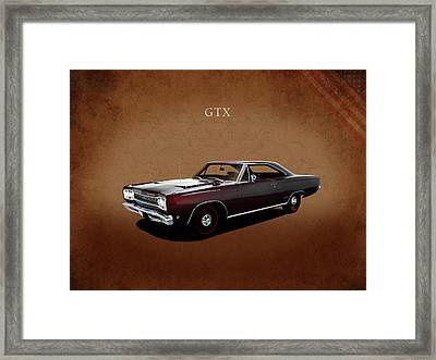 Plymouth Gtx 1968 Framed Print