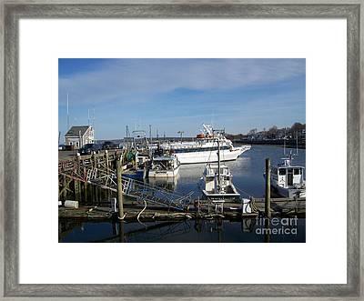 Plymouth Harbor Framed Print by Mary Ann Weger