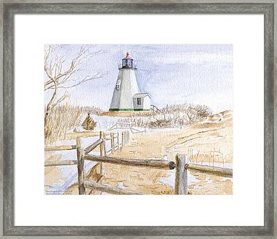 Plymouth Light In Winter Framed Print
