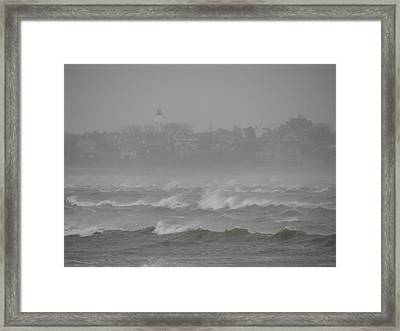 Plymouth Light Remaining Calm Framed Print