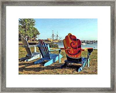 Plymouth Ma Supports The Arts  Framed Print by Janice Drew