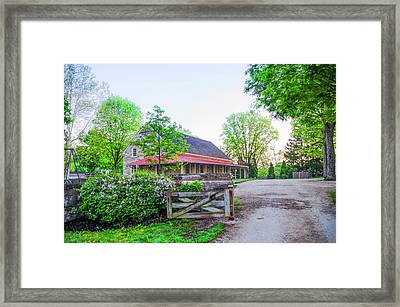 Plymouth Meeting Freinds In The Spring Framed Print by Bill Cannon