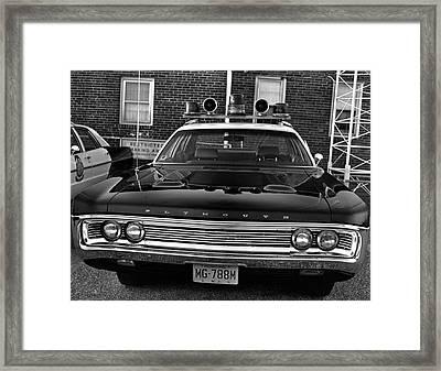 Plymouth Police Car Framed Print