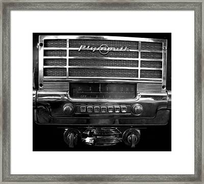 Plymouth Radio Framed Print by Audrey Venute
