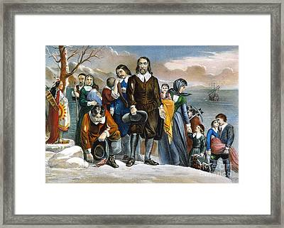 Plymouth Rock, 1620 Framed Print