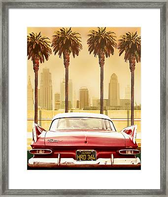 Plymouth Savoy With Palm Trees Framed Print by Larry Butterworth