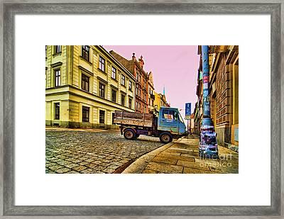 Plzen In Hdr Czech Republic Framed Print